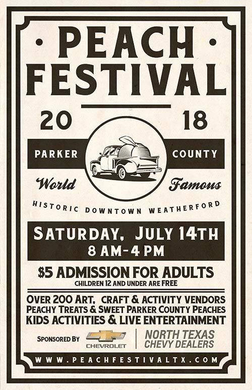 2018 Peach Festival Poster