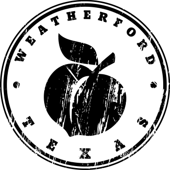 Distressed Peach Stamp for Mural Weatherford Chamber of Commerce Jan 2018 002